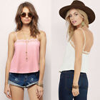 Fashion Women Lace Summer Vest Top Sleeveless Blouse Casual Tank Tops T-Shirt