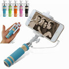 Folding Cellphone Wired Remote Shutter Selfie Stick Extendable Handheld Monopod