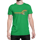 Surf Wave SURFING Mens RINGER T-Shirt Retro Birthday Gift Surfer