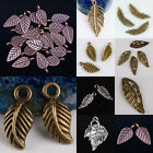 Wholesale Tibetan Silver Bronze Copper Leaf Leaves Pendant Charm Jewelry Finding