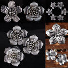 Tibetan Silver Carved Stripes Flower Floral Loose Spacer Pendant Beads Findings