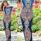 CHIC Womens Sexy Long Maxi Dress Ladies Summer Beach Party Sundress Fashion