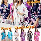 Hot Women robe Silk Satin Robes Bridal Wedding Bridesmaid Gown kimono Sleepwear