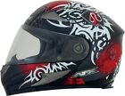 AFX ADULT FX-90 Red Danger Motorcycle Helmet XS-2XL