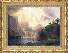Among the Sierra Nevada Mountains Albert Bierstadt Framed Art Painting Repro