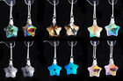 Crystal Glass Star drop earrings