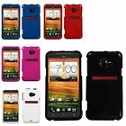 Black/White/Blue/Pink/Red Solid Hard Phone Protector Case For HTC EVO 4G LTE