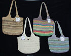 Cappelli Crochet Straw Hand Bag  Colors Greens~Browns~Multi~Natural~SHIPS FREE