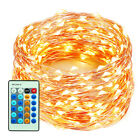 100/300LED Starry Copper Wire Lights Xmas Party String Lights +Power Supply