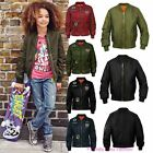 New Kids Girls MA1 Flight Badge Retro Military Bomber Harrington Classic Jacket