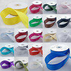 Double sided satin ribbon 3 metre cut lengths 3mm 10mm 16mm 25mm 38mm