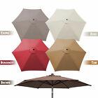 8.2ft Patio Umbrella Cover Canopy 6 Ribs Replacement Parasol Top Outdoor