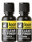 LOON UV Fly Finish - Choice Thick or Thin in 1/2 oz bottle fly tying