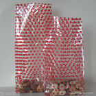 10 Red Dots Patterned Cellophane Gift Bags *Choose Size* Spotty Cello Bags