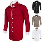 Fashion Mens Designer Lightweight Long Sleeve Casual/Formal Dress Shirt Tops