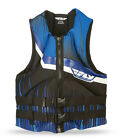 Fly Racing ADULT Neoprene Life Jacket Black/Blue Vest XS-3XL