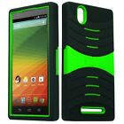 U-Stand Hybrid Armor Case Phone Cover Accessory for ZTE ZMAX Z970