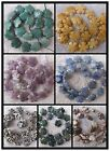 """16-20mm Natural Lot Stone Carved Flower Beads 15.5"""""""