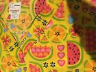 "Print Scrub Top ""V"" Neck 2 pocket Fruit Slices on Yellow by Scrubtime size 6XL"
