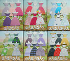 PRETTY DRESS CARD TOPPERS PRE-ASSEMBLED YELLOW BLUE PINK DRESSES