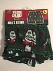 Walking Dead Men's Boxers Elastic Waist Cotton Pajamas Shorts Cotton Green New