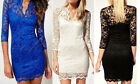 Fashion Womens Hollow Lace Cocktail Party Cocktail Evening Bodycon Pencil Dress