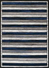United Weavers Blue Rows Bars Lines Contemporary Area Rug Striped 710-00461