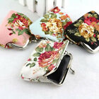 Flower Women Wallet Small Coin Change Purse Hasp Canvas Clutch Wallet Bags Gift