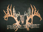 Sun River Clothing Black T-Shirt Buck REALTREE Hunting graphic Deer Antlers Camo