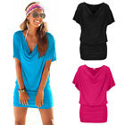 New Fashion Women Lady Girl Sexy Summer V Neck Short Sleeve Mini Dress