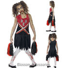 CK793 Zombie Cheerleader Sports Girls School Halloween Dress Up Costume Bloody