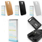 7800mAh Li-ion Phone Battery+ Dock Charger For Galaxy S5 i9600 &Free Back Cover