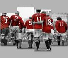 XL Manchester United MUFC Legends Together 4 Panel Split Canvas Picture Wall Art