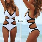 One piece Monokini Bikini Push Up Padded Hollow Swimwear Swimsuit Bathing Suit