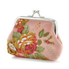 Coin Wallet Flower Women Small Change Purse Hasp Canvas Clutch Small Wallet Bags