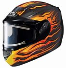 HJC 2015 Adult Flame CS-R2 MC7 Snow Helmet Black/Orange XS-2XL