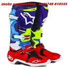 NEW ALPINESTARS TECH 10 MOTOCROSS BOOTS VENOM LTD EDITION BLUE/RED/CYAN/YELLOW