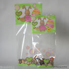 Easter Cellophane Bags Luxury Block Base  *Easter Bunny* Choose Size/Quantity