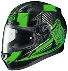 HJC 2015 Adult Striker CL-17 MC4 Street Motorcycle Helmet Black/Green XS-3XL