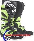 ALPINE STARS TECH 7 MOTOCROSS ENDURO BOOTS  BLACK / GREEN  - ADULT SIZES