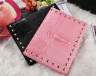 3D Crocodile Rivet Leather Smart Cover Book Case For iPad 2/3/4/5/6 mini 1/2/3/4