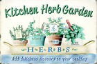 Kitchen Herb Garden Complimentary Cooking Metal Decorative Plaque
