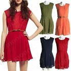 Women's Sexy Summer Slim Evening Cocktail Party Sleeveless Short Mini Dress New