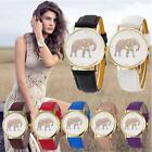 New Fahion Women Elephant  Pattern Weaved Leather Quartz Dial Watch wristwatches