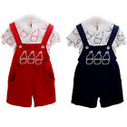 2PCS Set Baby Boy Toddler T-shirt Top+Bib Pants Overalls Outfit Clothes Nice