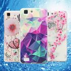 For Huawei Soft Rubber TPU Silicon Luxury Fashion Pattern Skin Back Case Cover