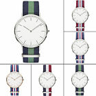 CHIC New Men's Womens Fashion Casual Classic Canvas Strap Electric Wrist Watches