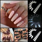 New! BALLERINA COFFIN Half Cover Long Nail Tips **YOU CHOOSE!** Fast Ship!