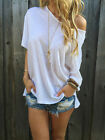 Summer Short Sleeve Blouse Casual Tops Women T-Shirt Pure White