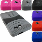 FOR ALCATEL ONE TOUCH POP 7 LTE 9015W RUGGED HYBRID ARMOR EXO CASE COVER+STYLUS